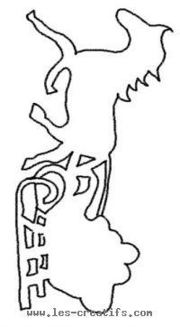 Cheval tirant un traineau de noël