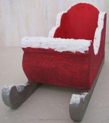 traineau de no l en corbeille de table. Black Bedroom Furniture Sets. Home Design Ideas