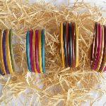 bracelet cuir multicolore