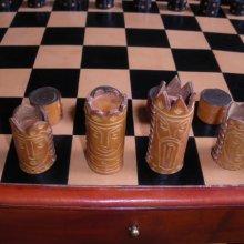 jeu d'échecs cuir