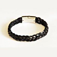 bracelet tressé homme cuir