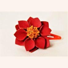 barette clip fleur