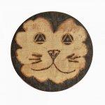 Ouvre bouteille / décapsuleur en bois de hêtre model : lion