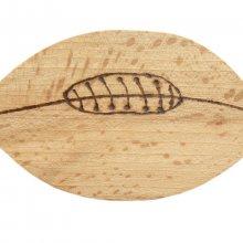 Ouvre bouteille / décapsuleur en bois de hêtre model : ballon de rugby