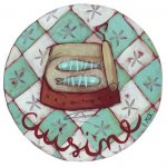 Plaque de porte boîte de sardines pour la cuisine