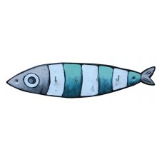 Accroche-clés ou torchons Sardine rayée longue