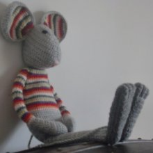 Tutoriel tricot du doudou Willy la souris