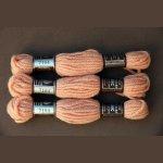 Echevette 8m   7164, ton  saumon, 100% pure laine Colbert