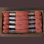 Echevette 8m n° 7165, ton  brique, 100% pure laine Colbert