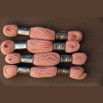 Echevette 8m  7193, ton rose saumon, 100% pure laine Colbert
