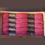 Echevette 8m   7205, ton rose foncé, 100% pure laine Colbert