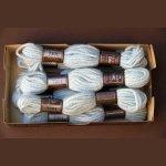 Echevette 8m  7301, ton  bleu clair, 100% pure laine Colbert DMC