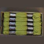 Echevette 8m  7583, ton vert clair, 100% pure laine Colbert