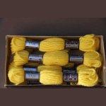 Echevette 8m   7726, ton ocre jaune, 100% pure laine Colbert DMC