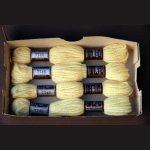Echevette 8m    7745, ton  jaune pâle, 100% pure laine Colbert DMC