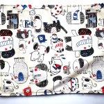 Bouillotte coton déhoussable 22x28cm  toile blanche avec éléphants