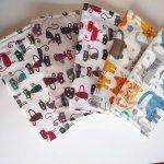 lot de 5 serviettes essuie-tout, coton-éponge, lavable, chats