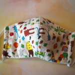 Masque de soin fantaisie, 3 épaisseurs, coton fantaisie avec insectes