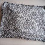 Bouillotte coton déhoussable 23x30cm  , tissu japonisant écailles grises