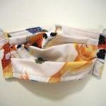 Masque en tissu , plissé, avec pince-nez, 3 épaisseurs, carpe Koï