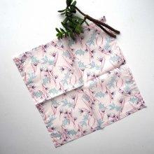 Petit mouchoir/serviette, coton , lavable, réutilisable, 27x27cm, ton rose