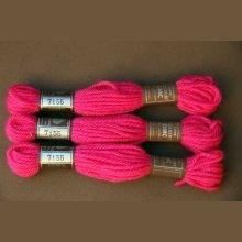 Echevette 8m   7155, ton rose vif, 100% pure laine Colbert