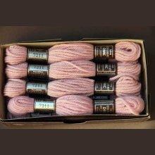 Echevette 8m  7211, ton rose clair, 100% pure laine Colbert