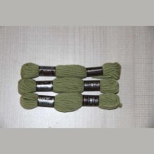 Echevette 8m ,  7373, ton vert, 100% pure laine Colbert