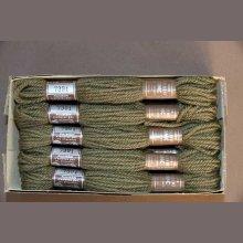 Echevette 8m  7391, ton vert, 100% pure laine Colber