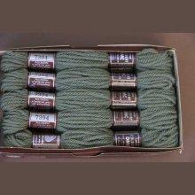 Echevette 8m  7394, ton  vert, 100% pure laine Colbert