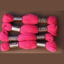 Echevette 8m n 7602, ton rose vif, 100% pure laine Colbert DMC