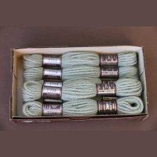 Echevette 8m  7704, ton gris vert, 100% pure laine Colbert