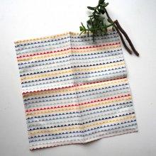 Petit mouchoir/serviette, coton , lavable, réutilisable, 27x27cm, zig zag multicolore