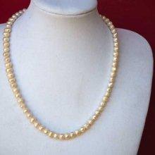 Très beau collier en perles d'eau douce, blanc nacré, 47cm, idéal cérémonie, mariage
