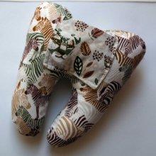 Grosse DENT tissu avec poche pour pièce, 12x13x5cm, motifs savane