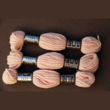 Echevette 8m  7121, ton beige rosé, 100% pure laine Colbert