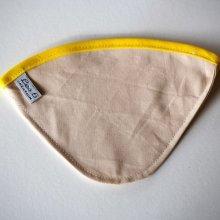 FILTRE à café, N°4, coton BIO, lavable, biais coloré jaune