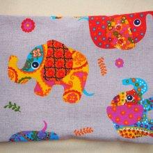 Bouillotte coton déhoussable avec éléphants, 21x29cm
