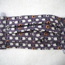 Masque de protection , plissé, avec pince-nez, 3 épaisseurs, gris; moutons