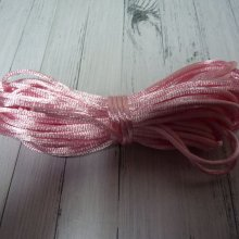 10 M DE CORDON EN SATIN ROSE