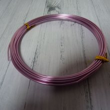 5 M DE FIL EN ALUMINIUM 1,5 MM : ROSE
