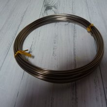 5 M DE FIL EN ALUMINIUM 1,5 MM : MARRON
