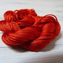 24 m de cordon macramé rouge : 1 mm