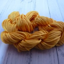 24 m de cordon macramé orange : 1 mm
