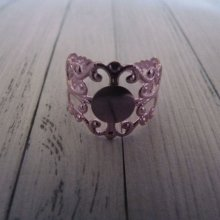 Support bague pour fimo, rose