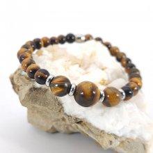 Bracelet en pierres d'oeil de tigre
