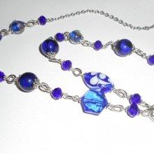 Sautoir en perles de cristal et verre de Murano
