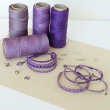 Bijoux en micro-macramé à personnaliser  en 'Nuances de violet'