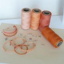 Bijoux en micro-macramé à personnaliser  en 'Nuances d'orange'