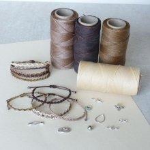 Bijoux en micro-macramé à personnaliser  en 'Nuances de brun'